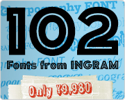 102 Fonts from INGRAM
