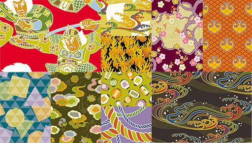 デザインパワー和柄 7 -祭美百選- サンプル