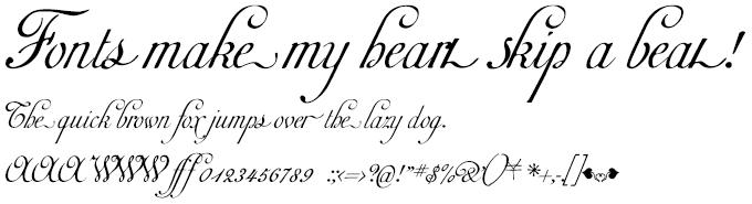 1781 La Fayette Normal 欧文フォント