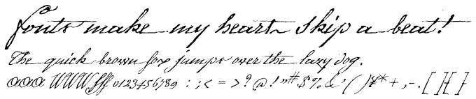 1805 Austerlitz Script Light 欧文フォント
