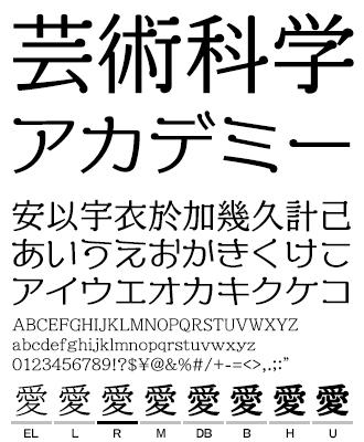 アドミーン VDL TYPE LIBRARY デザイナーズフォント