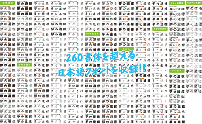 TypeMuseum 日本語フォント一覧