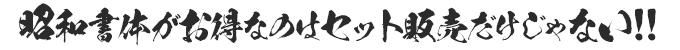 昭和書体がお得なのはセット販売だけじゃない!!