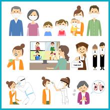 新型コロナウィルス対策 イラスト素材集 imagenavi selection 1