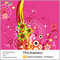 TPG Illustration 029 Vector Illustration -10 Flowers