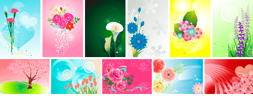 TPG Illustration 032 Vector Illustration -12 Colorful Flowers