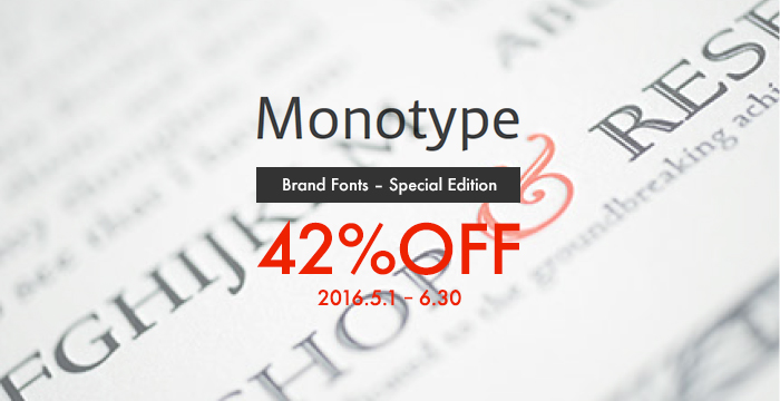 Monotype Brand Font Special Edition 42%OFF