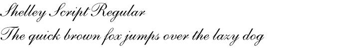 Shelley Script® Regular