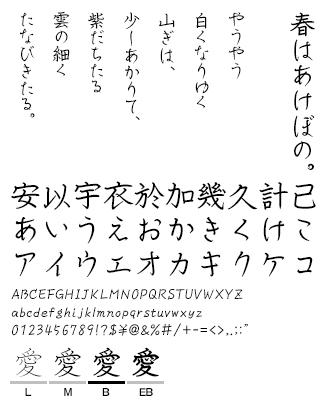 ペンレディ VDL TYPE LIBRARY デザイナーズフォント