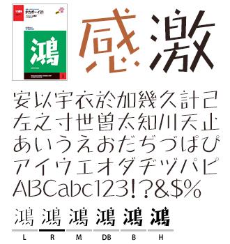 タカボーイ21 タカ書体