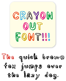 MdN_CrayonOut 欧文フォント見本