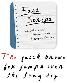 MdN_FastScript 欧文フォント見本