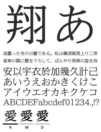 イワタUD明朝/かなA イワタ書体ライブラリー