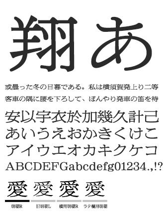 朝日新聞明朝 イワタ書体ライブラリー