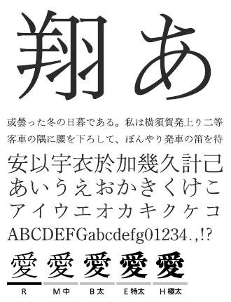 イワタ明朝体オールド イワタ書体ライブラリー