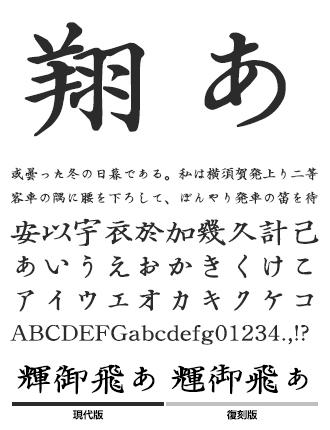 弘道軒清朝体 イワタ書体ライブラリー