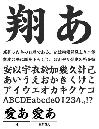 イワタ新楷書/かなA イワタ書体ライブラリー