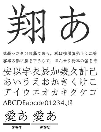 イワタ宋朝体 イワタ書体ライブラリー