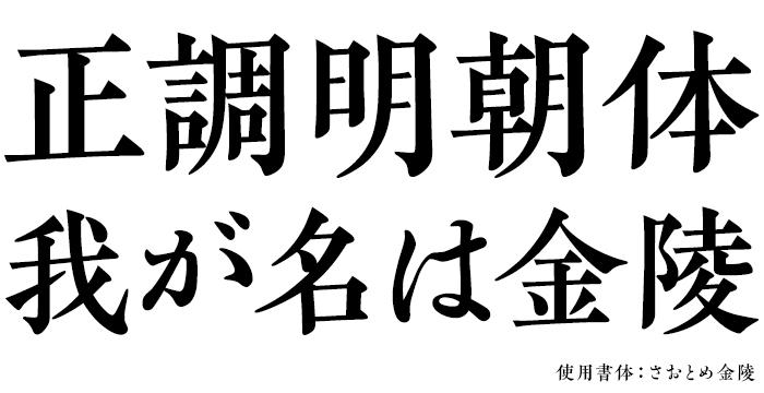 欣喜堂 日本語書体八策シリーズ