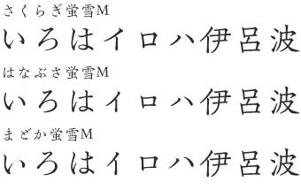 欣喜堂 清朝官刻体 蛍雪M Combination3