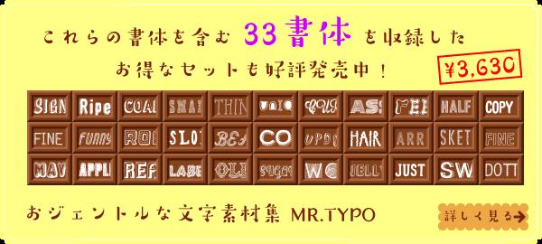 MdN おジェントルな文字素材集 MR.TYPO 収録33書体セット