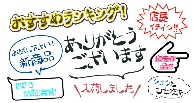 手書きフォント POP組み見本 スキルインフォメーションズ 手書き屋本舗 TAなすび