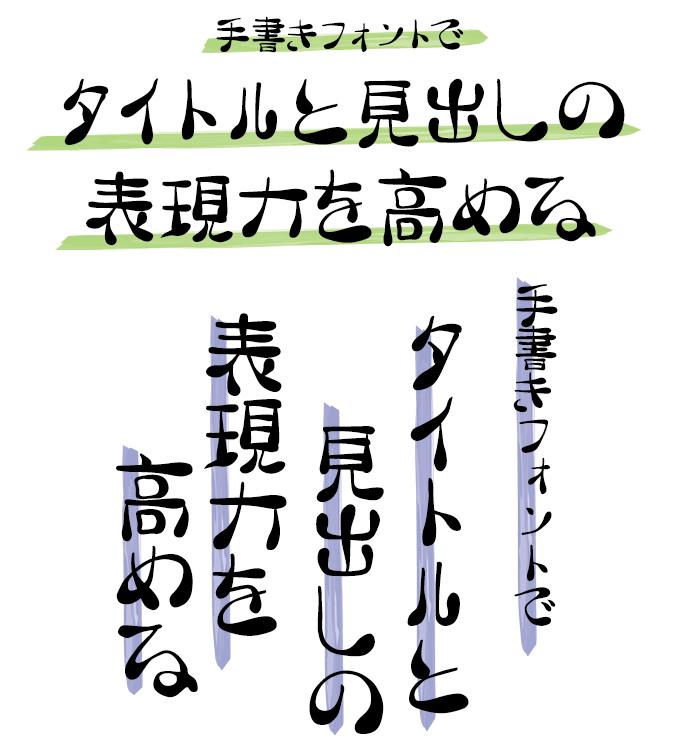 手書きフォント タイトル組み見本 スキルインフォメーションズ 手書き屋本舗 TAなすび