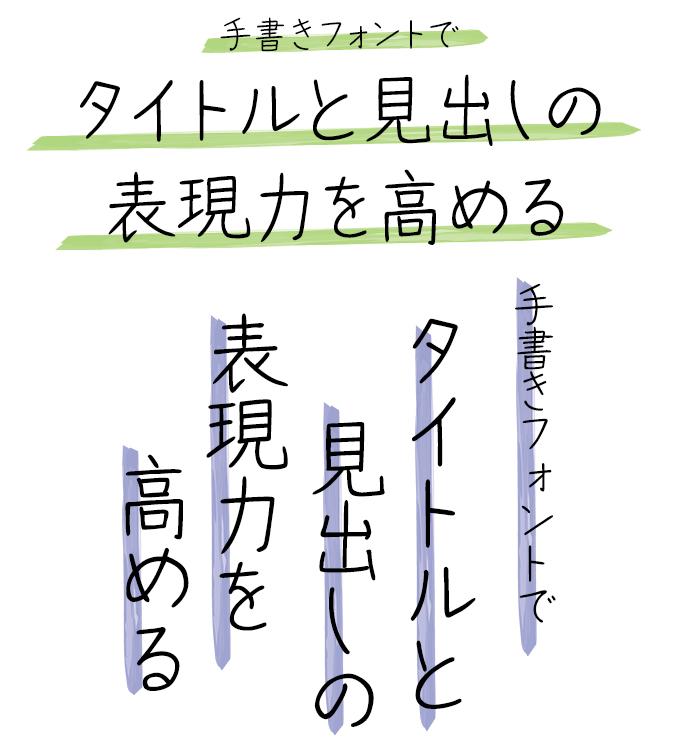 手書きフォント タイトル組み見本 スキルインフォメーションズ 手書き屋本舗 TAりえこ