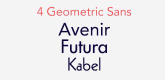 ジオメトリック・サンセリフ (Geometric Sans-Serif)