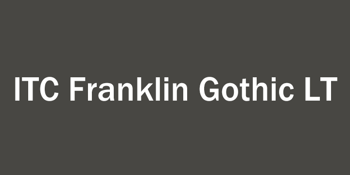 ITC Franklin Gothic™ LT