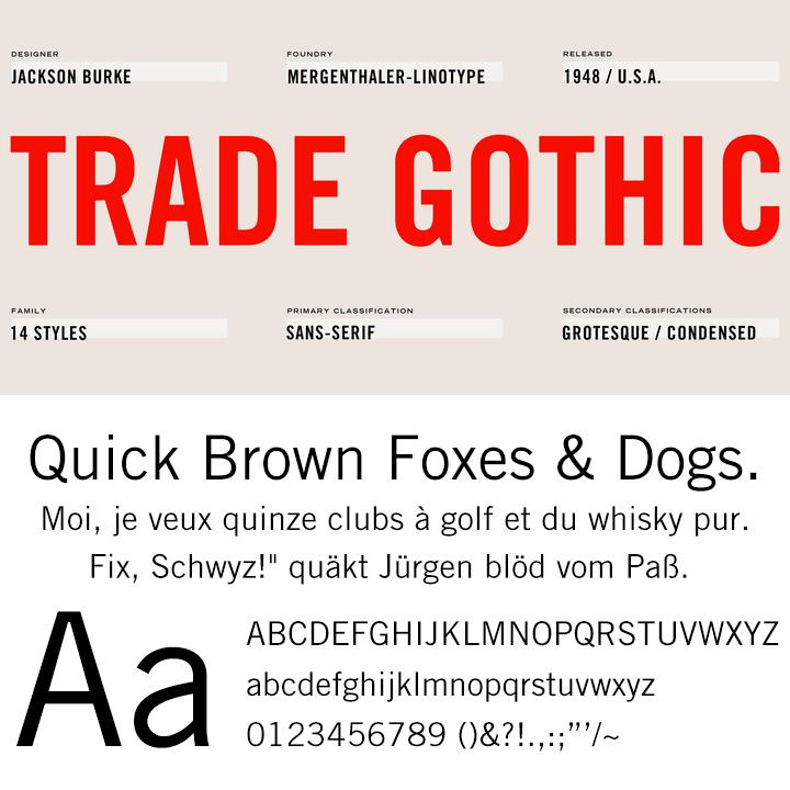 Trade Gothic™