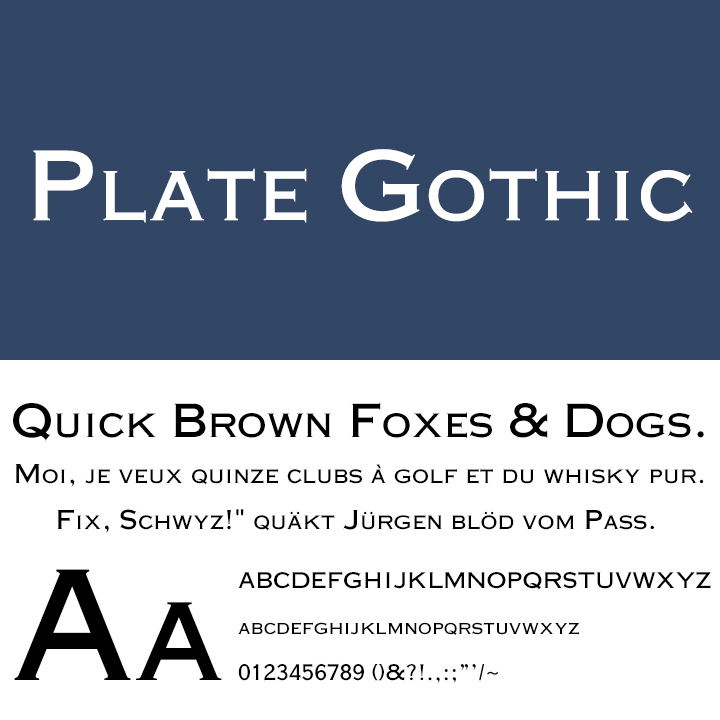 Plate Gothic™