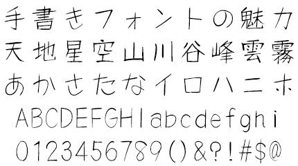 風弦体(ふうげんたい) 筆技名人 文字サンプル