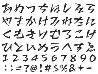 組み込みOK fontUcom ゲームで使える87書体セット AFS感情-おこる 文字見本