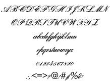 組み込みOK fontUcom ゲームで使える87書体セット AFSBankScript 文字見本
