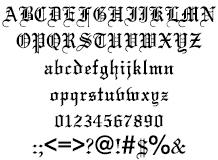 組み込みOK fontUcom ゲームで使える87書体セット AFSWeddingText 文字見本