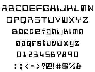 組み込みOK fontUcom ゲームで使える87書体セット AFS-SfComp-B 文字見本