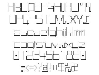 組み込みOK fontUcom ゲームで使える87書体セット AFS-SfLine-L 文字見本