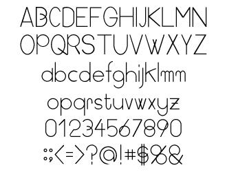 組み込みOK fontUcom ゲームで使える87書体セット AFS-SfMoon-L 文字見本