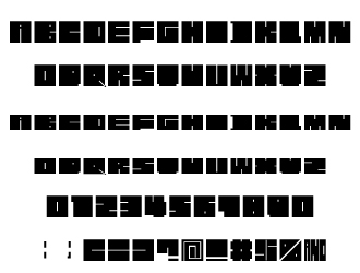 組み込みOK fontUcom ゲームで使える87書体セット AFS-SfSquare-B 文字見本