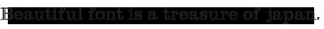 組み込みOK fontUcom ゲームで使える87書体セット AFSClarMachine07
