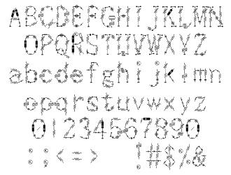 組み込みOK fontUcom ゲームで使える87書体セット AFSMachine09 文字見本