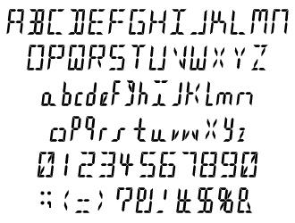 組み込みOK fontUcom ゲームで使える87書体セット AFSSegment 文字見本