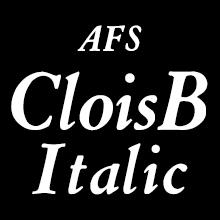 組み込みOK fontUcom ゲームで使える87書体セット AFSCloisBItalic