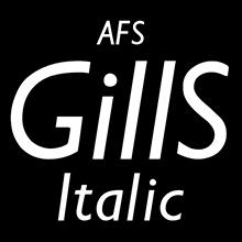 組み込みOK fontUcom ゲームで使える87書体セット AFSGillSItalic