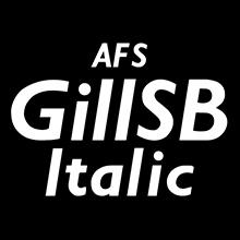 組み込みOK fontUcom ゲームで使える87書体セット AFSGillSBItalic