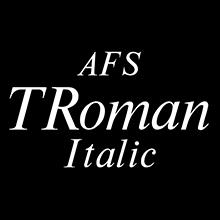 組み込みOK fontUcom ゲームで使える87書体セット AFSTRomanItalic