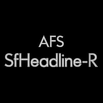 組み込みOK fontUcom ゲームで使える87書体セット AFS-SfHeadline-R