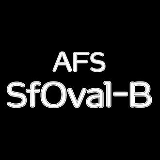 組み込みOK fontUcom ゲームで使える87書体セット AFS-SfOval-B