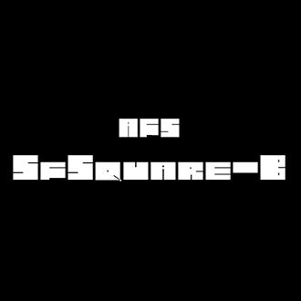 組み込みOK fontUcom ゲームで使える87書体セット AFS-SfSquare-B